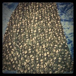 Vintage leopard print skirt